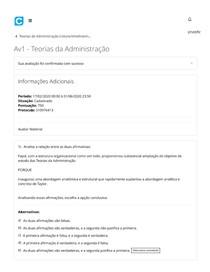 Av 1 - Teorias da Administração
