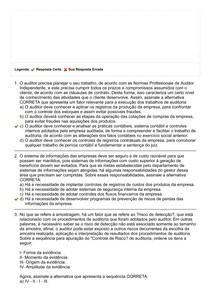 Auditoria Contábil - Prova II