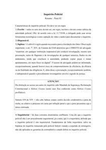 Inquérito Policial - Resumo - Parte 02