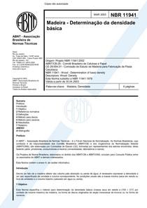 NBR 11941 - Densidade Basica da Madeira