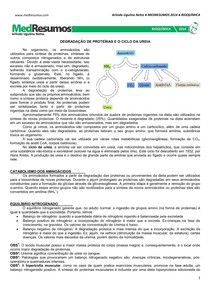 MEDRESUMOS 2014 - BIOQUÍMICA 11 - Ciclo da ureia