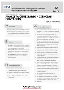Prova IBGE - Analista censitário - 2017