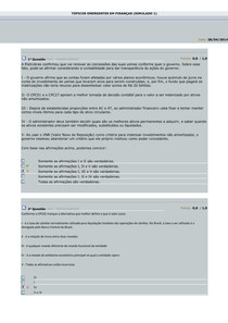 Tópicos Emergentes em Finanças - Simulados 1, 2 e 3 - by SM