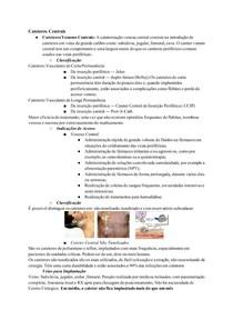 Resumo: Cateteres Centrais