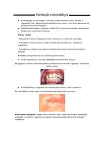 Introdução a Estomatologia