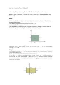 Lista 1 - Cálculo II - Exercícios Resolvidos