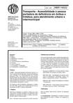NBR 14022   1997   Acessibilidade a Pessoa Portadora de Deficiência   Ônibus e Trolebus