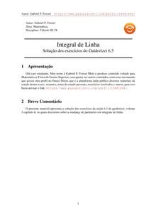 Exercícios Resolvidos Guidorizzi volume 3 capítulo 6.3