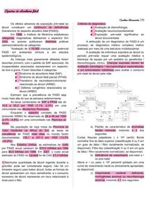 Síndrome do Alcoolismo Fetal- resumo do espectro