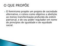 O que propõem feminismo
