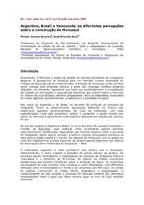 Argentina  Brasil e Venezuela