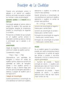 Princípio de Le chatelier - Química Analítica