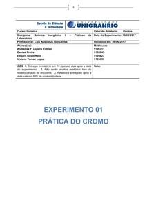 relatorio inorganica experimental