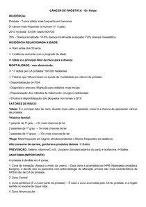 CÂNCER DE PRÓSTATA Dr Felipe de Almeida - Urologia