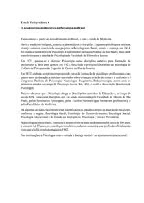 O desenvolvimento histórico da Psicologia no Brasil