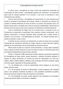 4) A psicogênese da língua escrita   Texto para aprofundamento