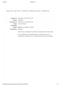 Avaliação Final CDC Introdução ao Direito do Consumidor (parceria ILB/ANATEL) - Turma 2