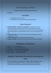 Farmacologia - Proteção Gástrica