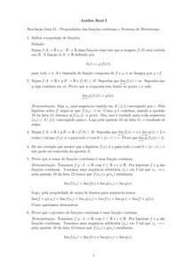 Resolução lista 13 - Propriedades das funções contínuas e Teorema de Weierstrass