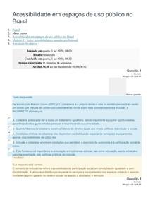 Acessibilidade em espaços de uso público no Brasil - prova 3