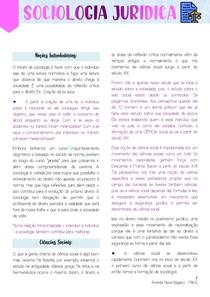 SOCIOLOGIA JURÍDICA - PRIMEIRA PARTE (CLAUDIA ALBAGLI)