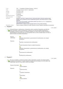 introdução a farmacia 40 questoes