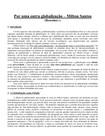 Por uma outra globalização – Milton Santos  - Estudo P3