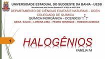 HALOGÊNIOS - FAMÍLIA 7A