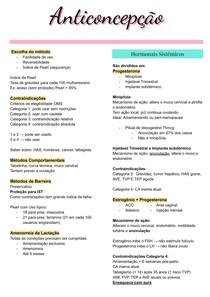 Anticoncepção - Ginecologia