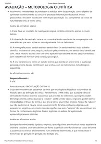 AVALIAÇÃO METODOLOGIA CIENTÍFICA
