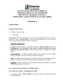 e82984330d3fc Introdução ao Direito II-Unidade II- Direito Subjetivo. - Intr - 2