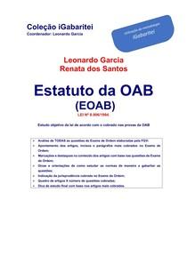 Estatuto da OAB - raio x e art 7