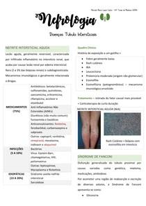 Doenças Tubulointersticiais