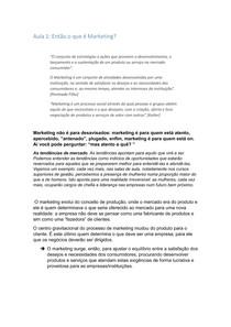 Administração de marketing (aula 1)