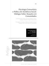 Aula 06 e 07 Texto Complementar XIMENES, Psicologia Comunitária e Política de Assistência Social