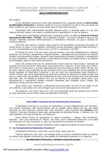 Ponto Dos ConcursosMatematica Financeira2006
