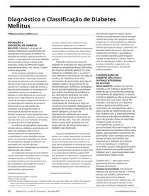 Diagnose e classificação da diabetes