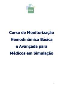 MONITORIZACAO HEMODINÂMICA BÁSICA E AVANCADA