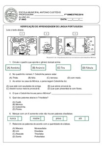 I Bimestre Lingua Portuguesa