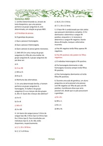 Sistema ABO - Biologia II