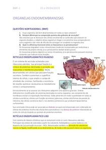 ORGANELAS ENDOMEMBRANOSAS