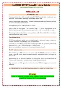 APENDICITE - ESTUDO DE CASO (CRIANÇA)