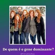 De quem é o gene dominte-