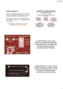 Farmacodinâmica - Resumo