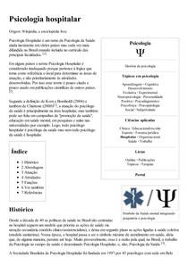 Psicologia hospitalar – Wikipédia  a enciclopédia livre
