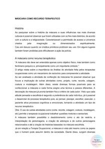 RECURSO TERAPÊUTICO - MÁSCARA