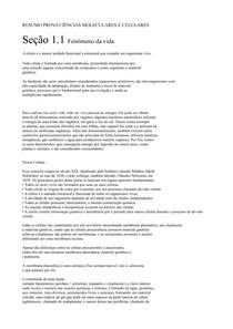 RESUMO PROVA CIÊNCIAS MOLECULARES E CELULARES 01(1)