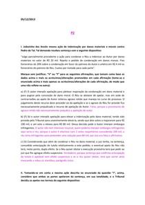 P2 e PS Processo Civil II