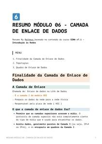 Resumo Módulo 6 - Camada de Enlace de Dados - CCNA v7_1 - Introdução às Redes