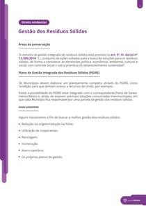 A gestão de resíduos sólidos - Resumo